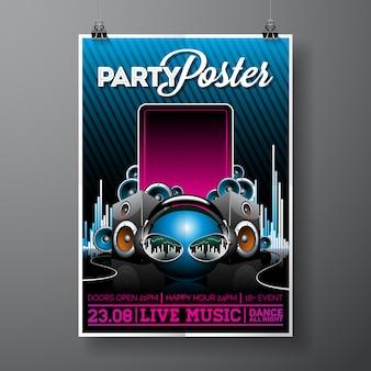Плакат шаблон партия