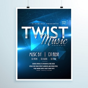 Party poster with bright geometric shapes