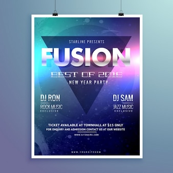 Party poster with a triangle