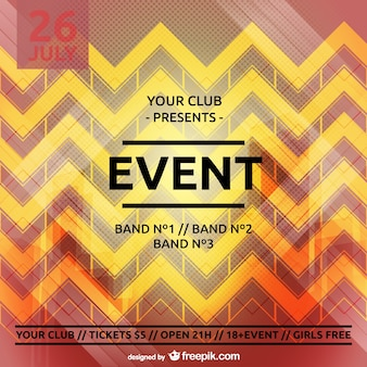 Party poster zig zag template