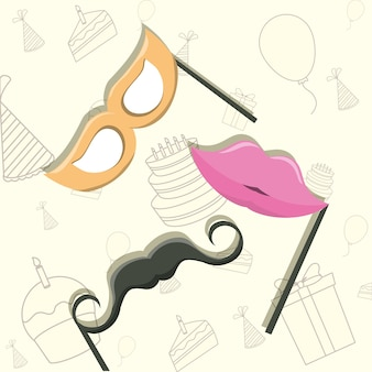 Party props icon over white background