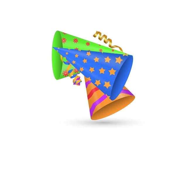 Праздничные блестящие кепки праздничные шапки для вечеринок и праздников, празднования дня рождения, бумажная шляпа с конусом