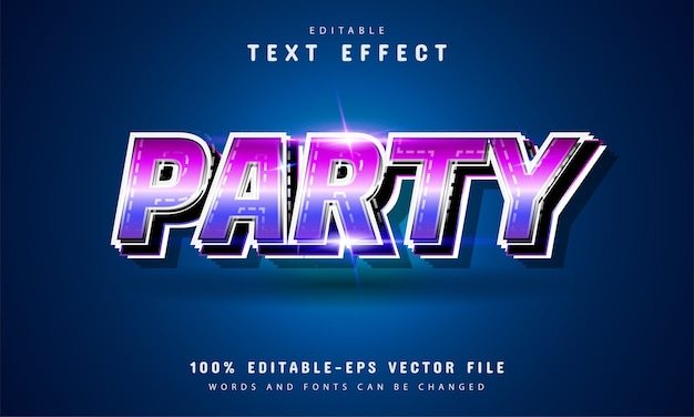 Party text, editable text retro style