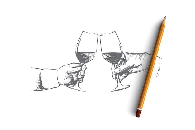 Иллюстрация концепции времени вечеринки