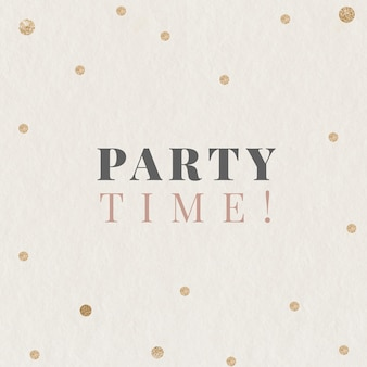 パーティータイムのお祝いテンプレート編集可能なソーシャルメディアの投稿