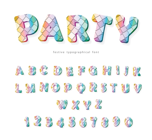Party trendy font.