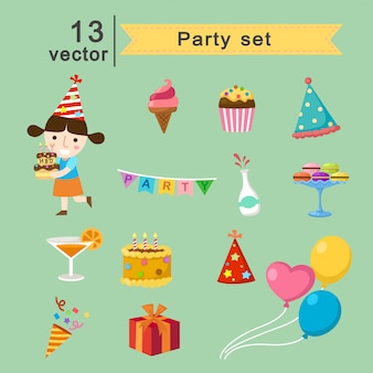Party vector set