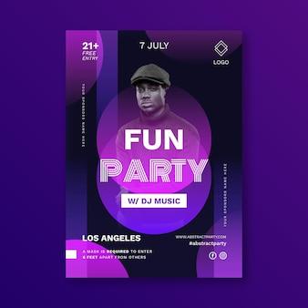 Шаблон вечеринки вертикальный плакат