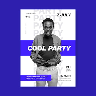 Party vertical poster template