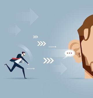 Pass Message - Business Concept