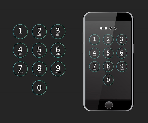 Passcode for telephone vector