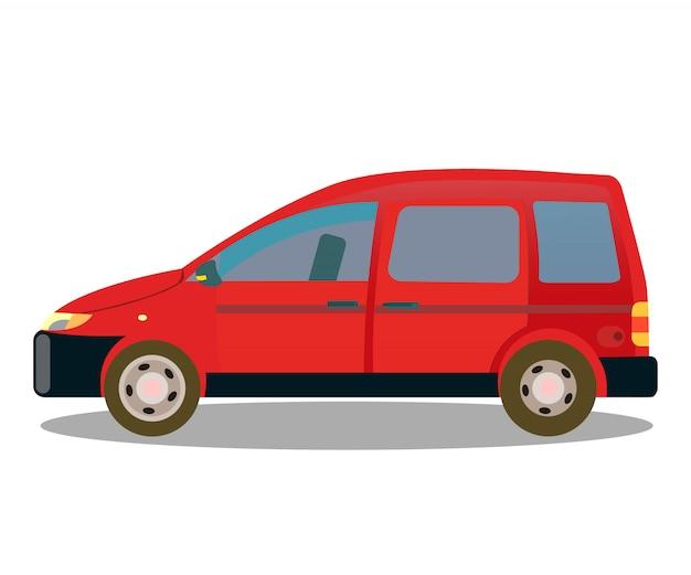 Passenger car, automobile flat color illustration
