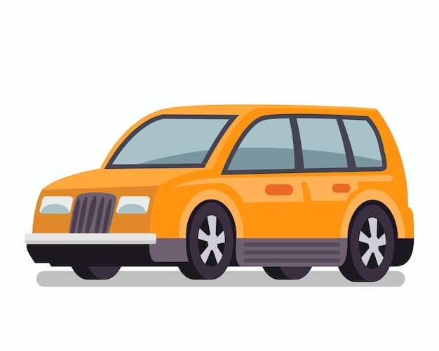 Passenger car, estate wagon vector illustration