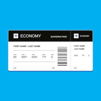 Passenger ticket economy class.