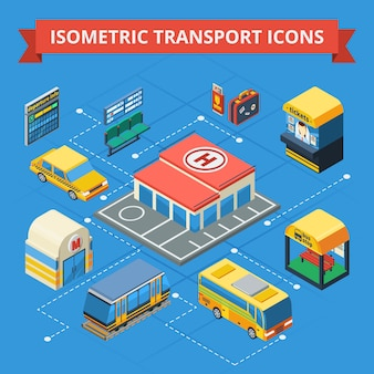 Passenger transportation isometric flowchart