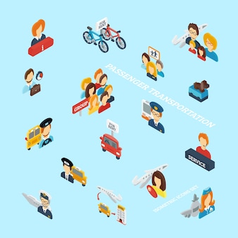 Passenger transportation isometric
