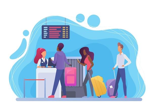 Passengers registration for flight