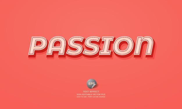 Passion editable 3d text effect