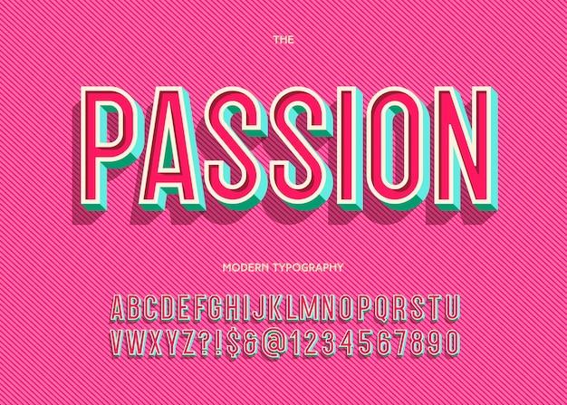 Страсть шрифт модная типография без засечек для книги