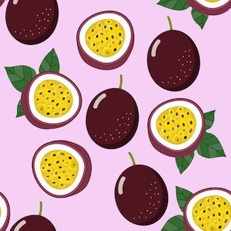 Страсть фруктов бесшовные шаблон и вектор.