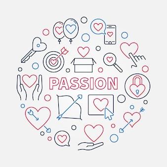 Passion round illustration