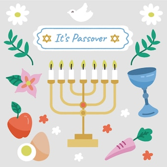 Passover with menorah