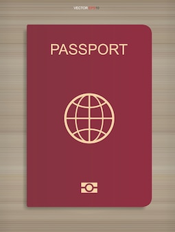 Паспортная книга на фоне текстуры древесины