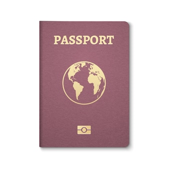 Passport document id. international pass for tourism travel