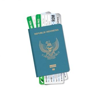 Passport indonesia ticket air plane