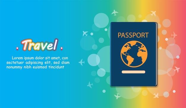 여권 여행자는 세계 개념을 여행.