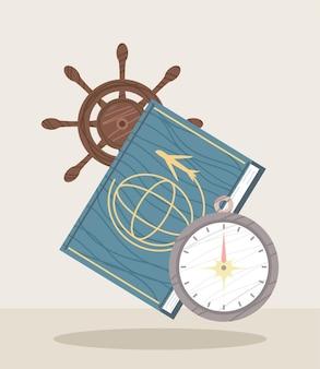 Паспорт с символами путешествия