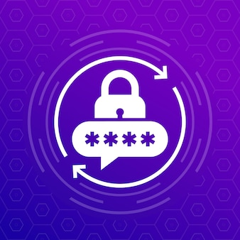 Password reset icon for apps, vector design