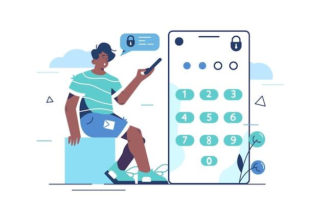 Иллюстрация системы защиты паролем.