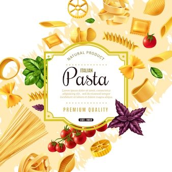 Pasta decorative frame