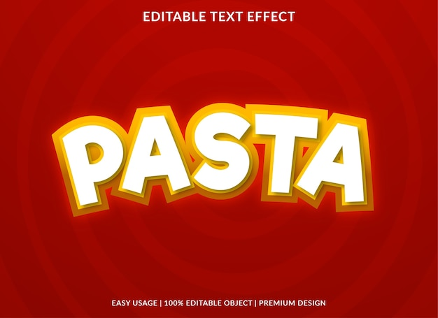 Pasta editable text effect template