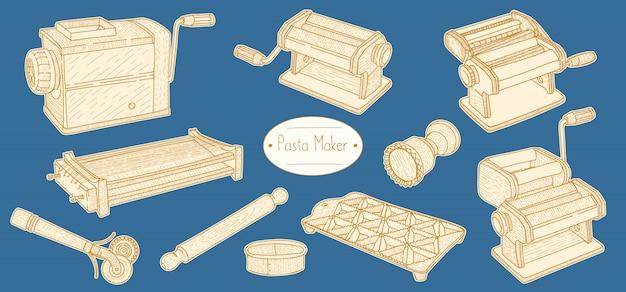 Pasta equipment for cooking italian food