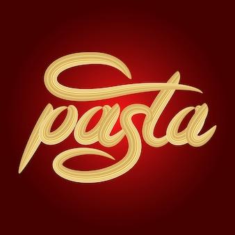 Pasta lettering banner design