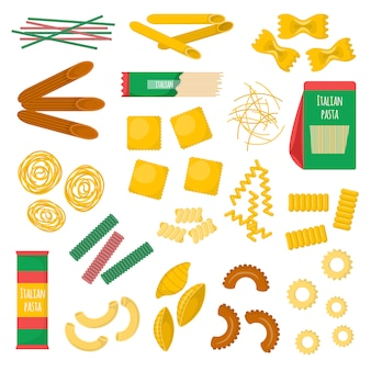 Pasta products  illustration.