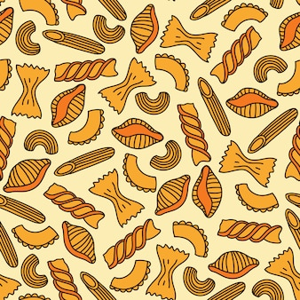 Pasta seamless pattern. vector illustration