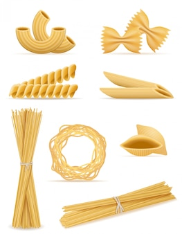 Pasta set vector illustration