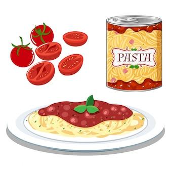Макароны с простым томатным соусом