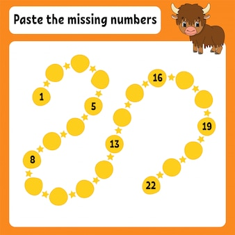 Paste the missing numbers.