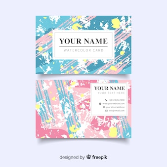 Pastel abstract business card
