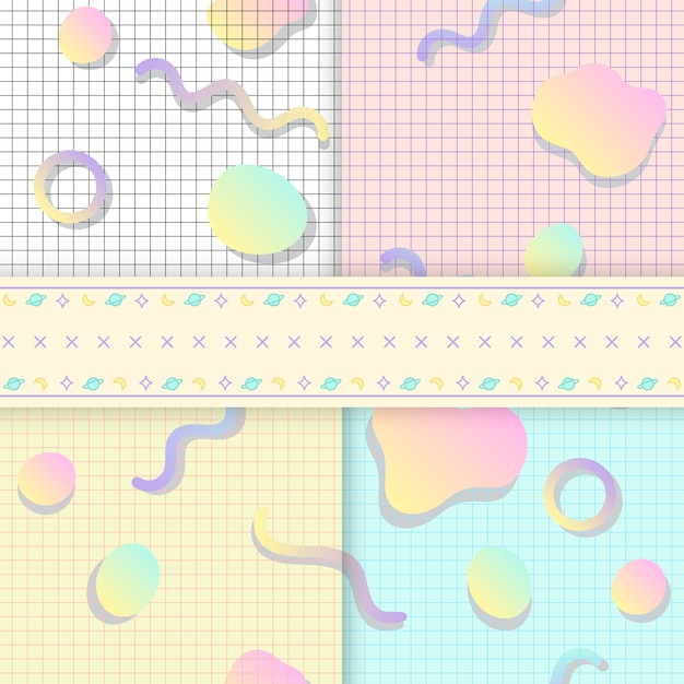 Pastel backgrounds for blogs vectors