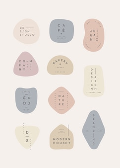 Pastel badge set