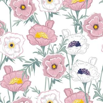 Pastel blooming  Floral pattern