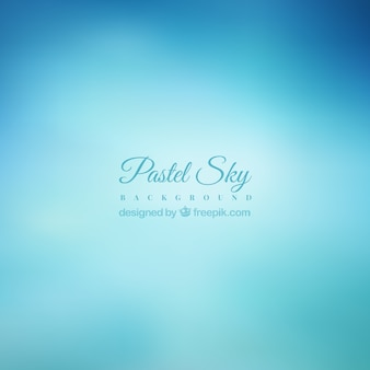 Pastel blue sky background in blur effect