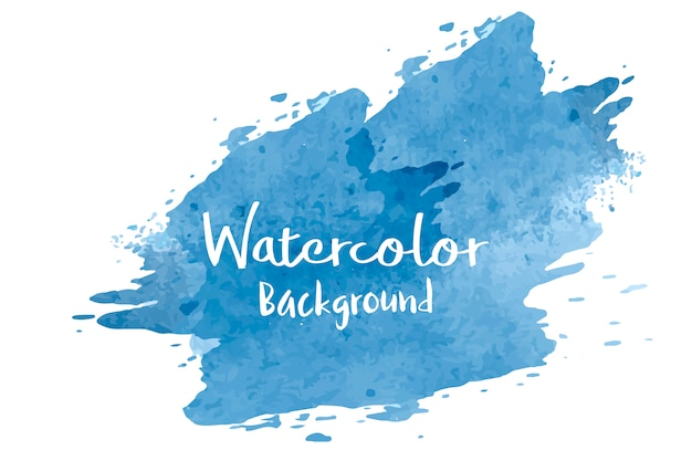 Pastel blue watercolor background vector