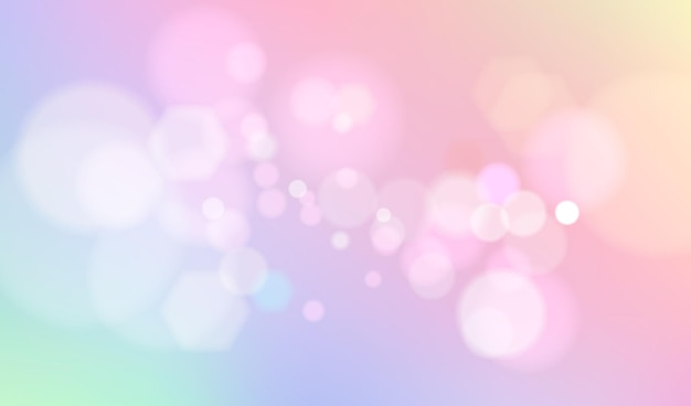 Pastel bokeh background