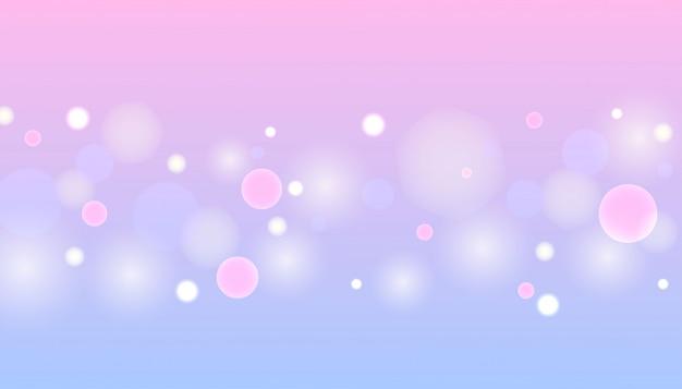 Пастель боке светлый фон вектор